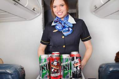 beer flight attendant