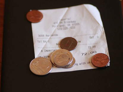 Receipt with change