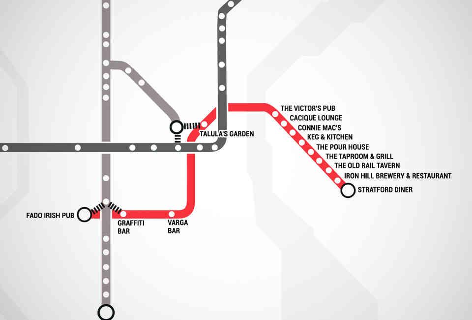 Philadelphia Subway Map Patco.Septa Bar Map Thrillist