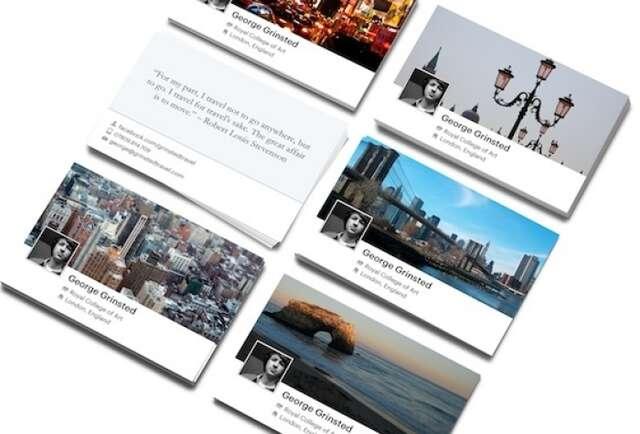 Facebook Timeline Business Cards