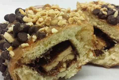 California Donuts Snickers Bar donut