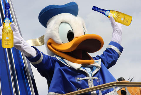 donald duck champagne
