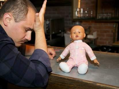 baby at bar