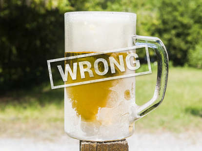 frosty beer glass