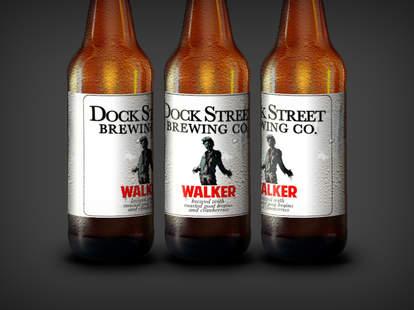 dock street walking dead walker beer