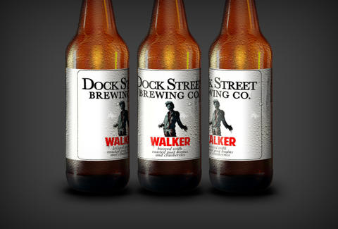 dock street walking dead walker beer