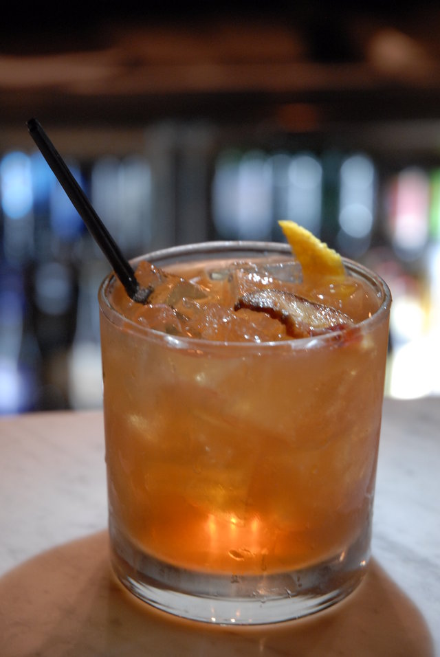 Pork belly bourbon old fashioned