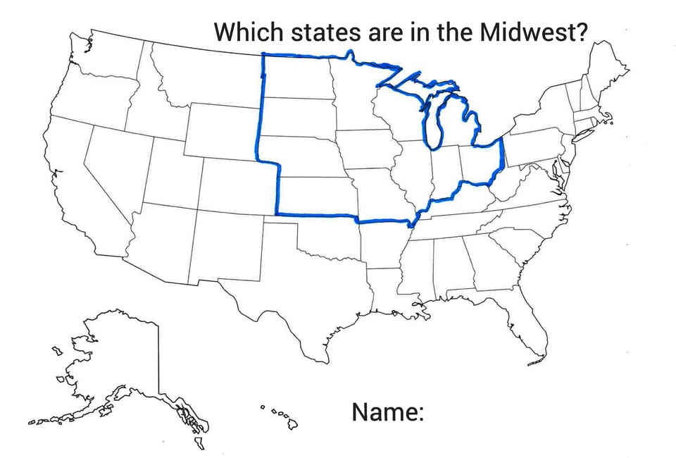 which twelve us states belong to the midwest