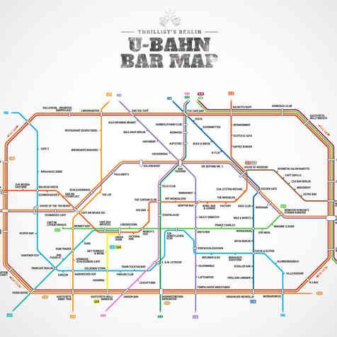 MAP U-BAHN BERLIN