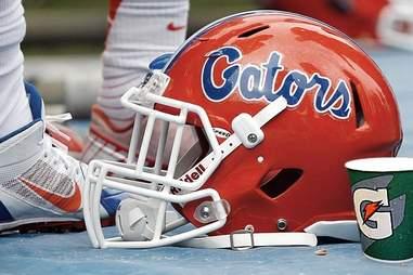 Gatorade with UF Gators helmet