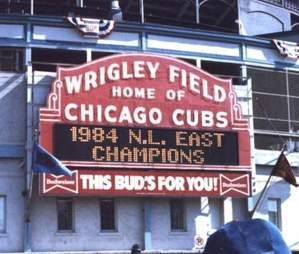 Chicago Cubs 1984 N.L. East Champions sign