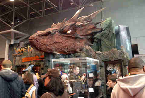 The Hobbit Smaug statue