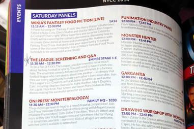 New York Comic Con guidebook