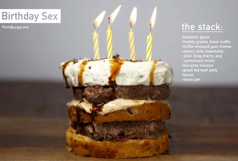 birthday sex burger pornburger