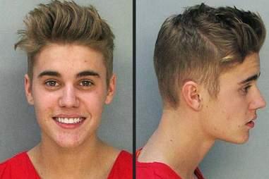Justin Beiber mugshot