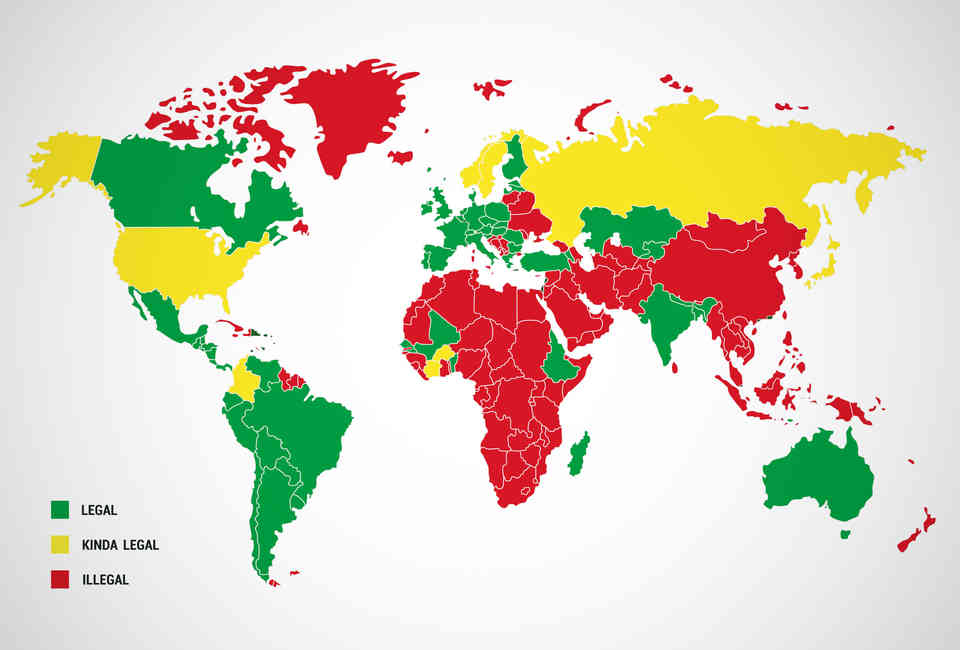 Legal Prostitution - World Map of Every Country That Has