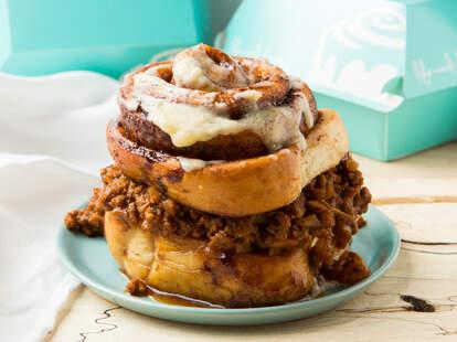 Sloppy Joe-stuffed Cinnabon - Thrillist Recipes