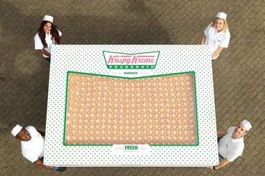 Krispy Kreme giant donut box