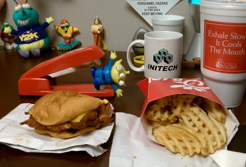 Chick-Fil-A desk lunch