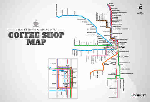 Chicago coffee map