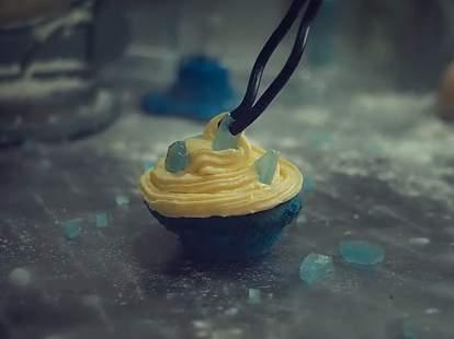 Baking Bad blue crystal cupcake