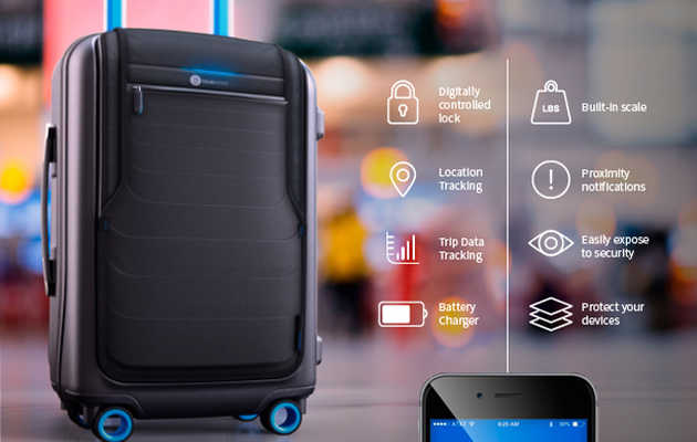 Control this high-tech luggage with your smartphone