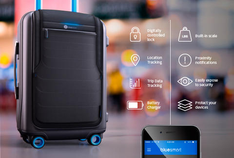 Smartphone Control High Tech Luggage From Bluesmart