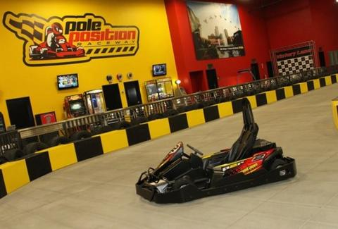 A go kart at Pole Position Raceway