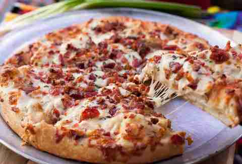 Bacon Chicken Ranch Pizza