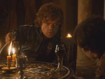 Tyrion Lannister with cup of wine