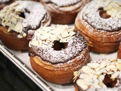 chocolate croissant donut dunkin