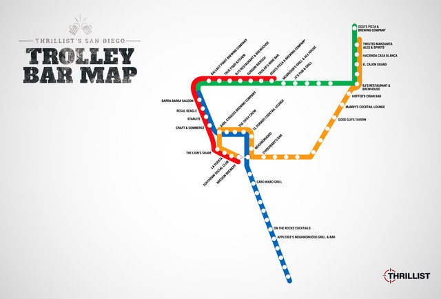 Trolley bar-hopping map