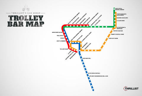 San Diego Trolley Bar Map - Bars Near Every San Diego Trolley Stop ...
