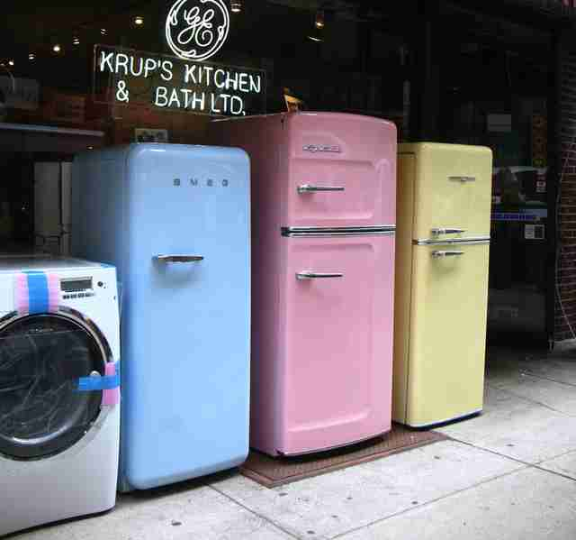 Old-fashioned fridges