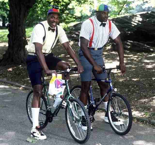 Shaq and The Dream on bikes with Taco Bell