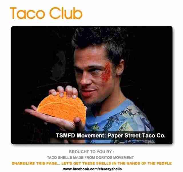 Taco Shells Made from Doritos Movement Fight Club