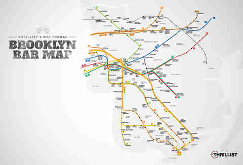 Brooklyn Bar Map