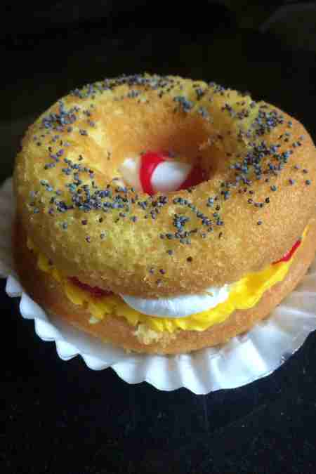 egg and cheese cupcake