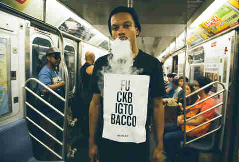 Vaping on the subway