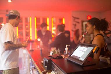 Vaping at the bar