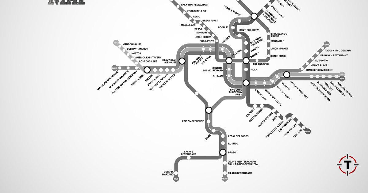 DC Metro Restaurant Map - Washington restaurants near