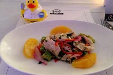 conch ceviche on Lufthansa