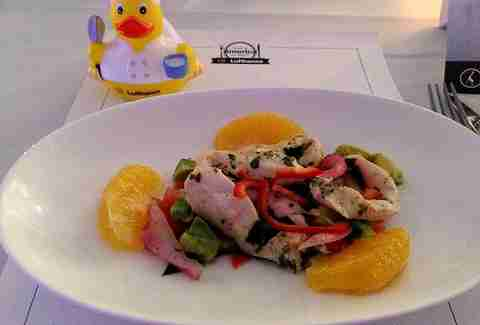 conch ceviche on Lufthansa
