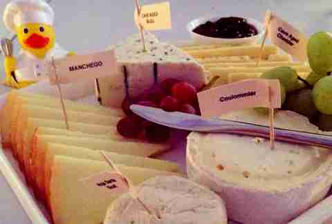 Cheese course on Lufthansa