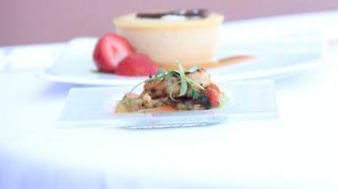 Lemon garlic shrimp on Lufthansa