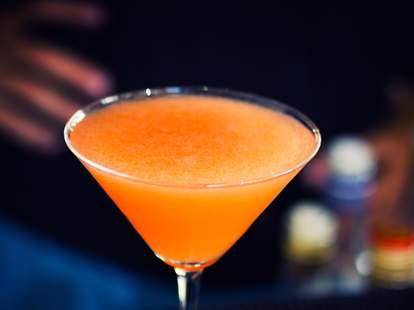 Pumpkin mezcal cocktail