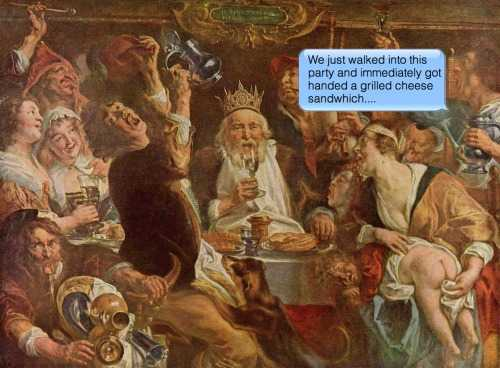 Classical paintings hilariously reinterpreted with text messages