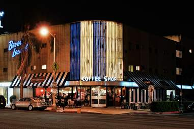 coffee shop at night