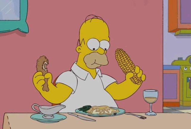 Bart Simpson At Chinese Food