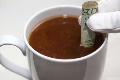 coffee dollar bill